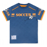 20-14504 Футболка для мальчика, 3-7 лет, джинсовый