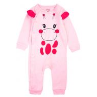 20-45204К Комбинезон для малышей, рибана, 62-80, розовый
