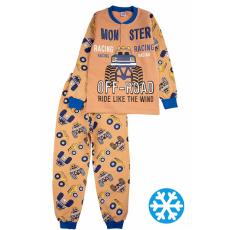 20-95511 Пижама утепленная для мальчика, 7-10 лет, коричневый