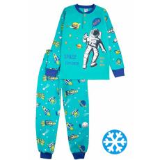 20-95515 Пижама утепленная для мальчика, 7-10 лет, изумрудный