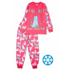 20-95523 Пижама утепленная для девочки, 7-10 лет, малиновый
