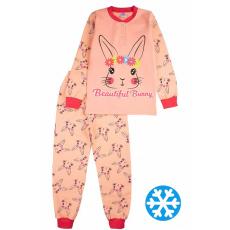 20-95525 Пижама утепленная для девочки, 7-10 лет, персиковый