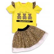 020-13255 Комплект для девочки, 3-7 лет, желтый