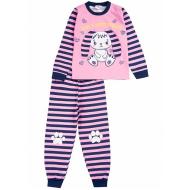020-9762 Пижама для девочки, 3-7 лет, розовый