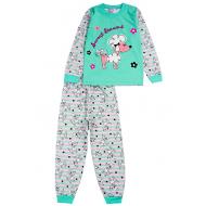 020-9763 Пижама для девочки, 3-7 лет, ментоловый
