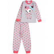 020-9764 Пижама для девочки, 3-7 лет, св-меланж