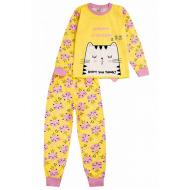 020-9765 Пижама для девочки, 3-7 лет, желтый