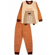 """020-9771 """"Мишка"""" Пижама для мальчика, 3-7 лет, коричневый"""