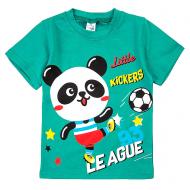 20-001103 Футболка для мальчика, 1-4 года, изумрудный