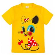 20-001208 Футболка для девочки, 1-4 года, желтый