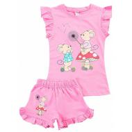 20-004202 Костюм для девочки, 1-4 года, розовый