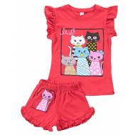 20-004204 Костюм для девочки, 1-4 года, красный