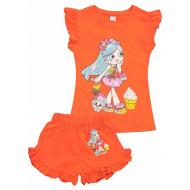 20-004205 Костюм для девочки, 1-4 года, оранжевый