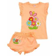 20-004206 Костюм для девочки, 1-4 года, персиковый