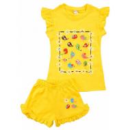 20-004209 Костюм для девочки, 1-4 года, желтый