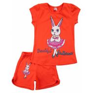 20-005201 Костюм для девочки, 4-8 лет, оранжевый