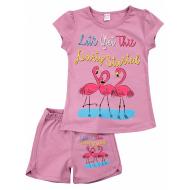 20-005208 Костюм для девочки, 4-8 лет, лиловый