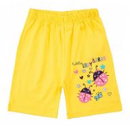 20-101210 Шорты удлиненные для девочек, 1-5 лет, желтый