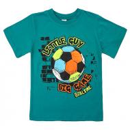 20-002112 Футболка для мальчика, 4-8 лет, бирюзовый