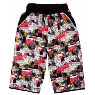 20-10211 Удлиненные шорты для мальчика, 8-12 лет,черный