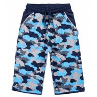 20-10213 Удлиненные шорты для мальчика, 8-12 лет, т-синий