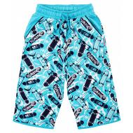 20-10214 Удлиненные шорты для мальчика, 8-12 лет, бирюзовый