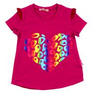 020-11941 Кофта для девочки, 3-7 лет, малиновый