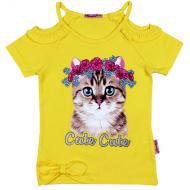 020-11974 Кофта для девочки, 3-7 лет, желтый