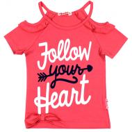 020-11975 Кофта для девочки, 3-7 лет, розовый