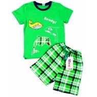 020-12085 Костюм для мальчика, 3-7 лет, зеленый