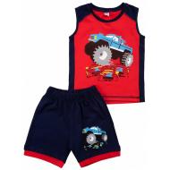 20-12091 Костюм для мальчика, 2-5 лет, красный\синий