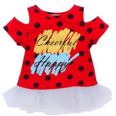 020-12793 Кофта для девочки, 1-4 года, красный