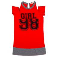 020-13261 Платье для девочки, 8-12 лет, красный
