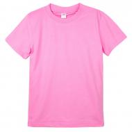 20-164 Футболка однотонная, 1-4 года, розовый