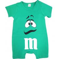"""20-4583 """"M&M's"""" Полукомбинезон для малыша, 62-86, зеленый"""