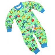 20-30001 Пижама для мальчика, 2-6 лет, салатовый