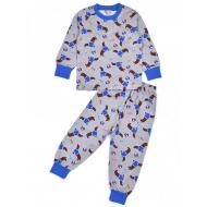 20-30005 Пижама для мальчика, 2-6 лет, серый
