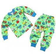 20-30011 Пижама для мальчика, 2-6 лет, салатовый