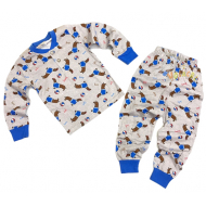 20-30015 Пижама для мальчика, 2-6 лет, серый