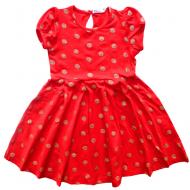 20-3721 Платье для девочки, 3-7 лет, коралловый