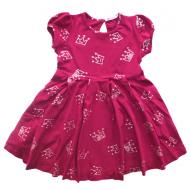 20-3723 Платье для девочки, 3-7 лет, бордовый