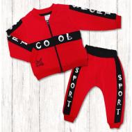 """020-3781 """"COOL"""" Комплект для новорожденных, 74-92, красный"""