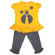 20-4914 Комплект для девочки, 3-7 лет, желтый