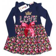 20-7881 Платье для девочки, 5-8 лет, т-синий