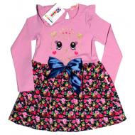20-7882 Платье для девочки, 5-8 лет, розовый