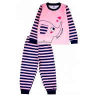 20-97601 Пижама для девочки, 3-7 лет, т.синий