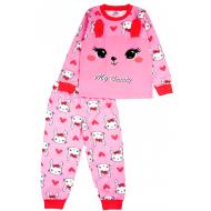 20-97602 Пижама для девочки, 3-7 лет, розовый