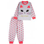20-97603 Пижама для девочки, 3-7 лет, меланж