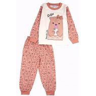 20-97605 Пижама для девочки, 3-7 лет, коричневый