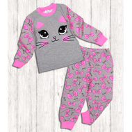 020-9761 Пижама для девочки, 3-7 лет, меланж